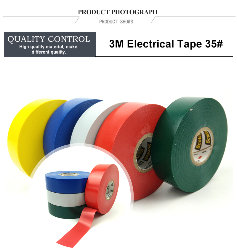 3M 35 Vinyl Electrical Colour Coding waterproof electrical insulation T