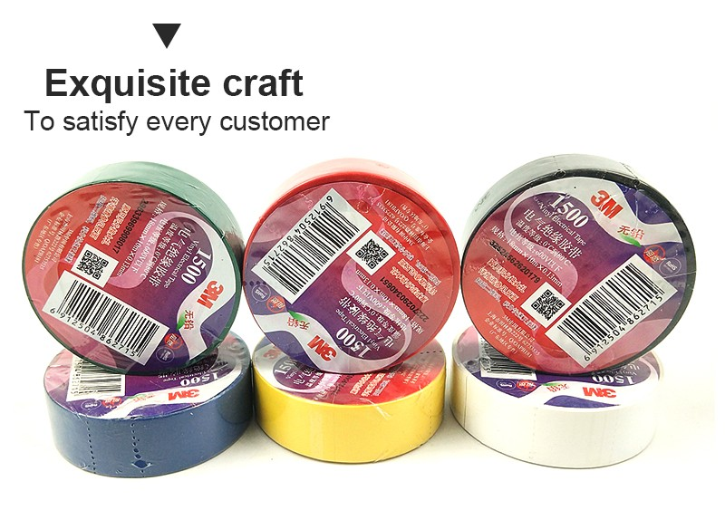 3M 1500 electrical tape with high insulation fire resistance