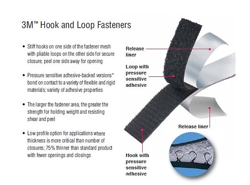 3M SJ3526 Hook Fastener  and SJ3527 Loop Fastener White color