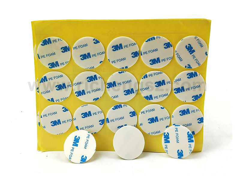 Die Cut white color 3M 1600T PE foam Double sided tape