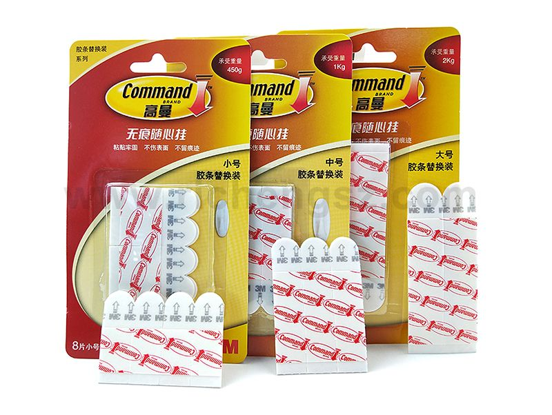 Packing Medium Size Cmmand Damege Free Picture Hanging Strips