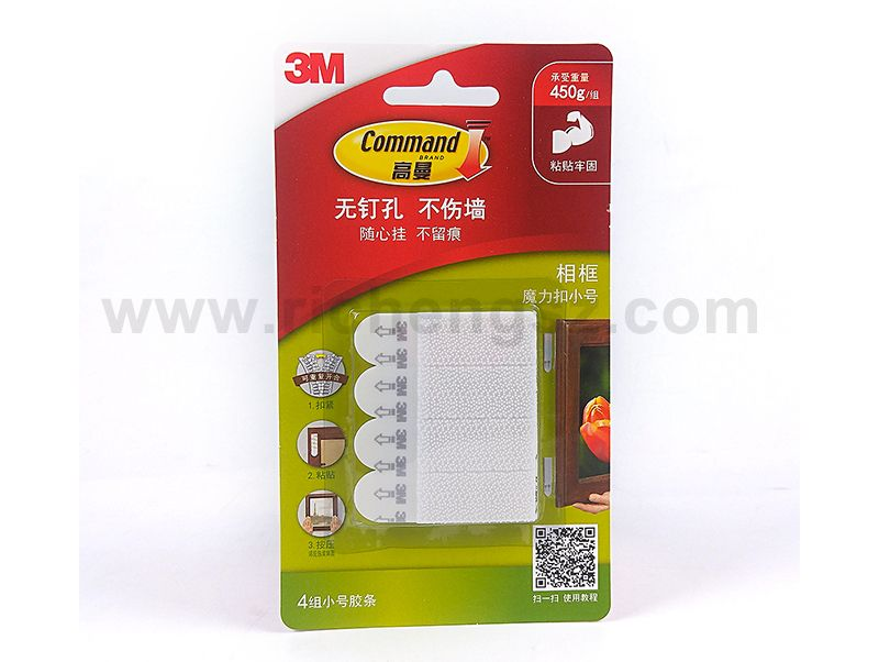 Small Size 3M Command Picture Hanging Strips Damage-Free Magic Strip Inter Locking Faster