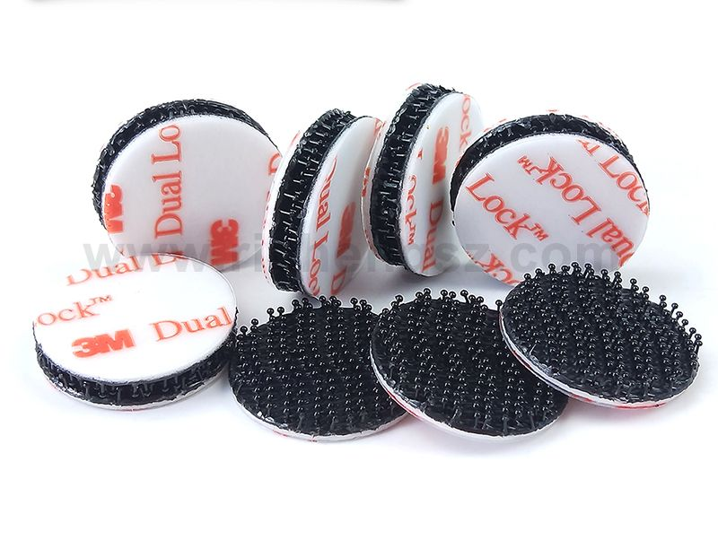 22mm circle die cut 3M Dual Lock Tape sj3550 Richeng Company Offer Dual lock Free Sample for circles and square or other size