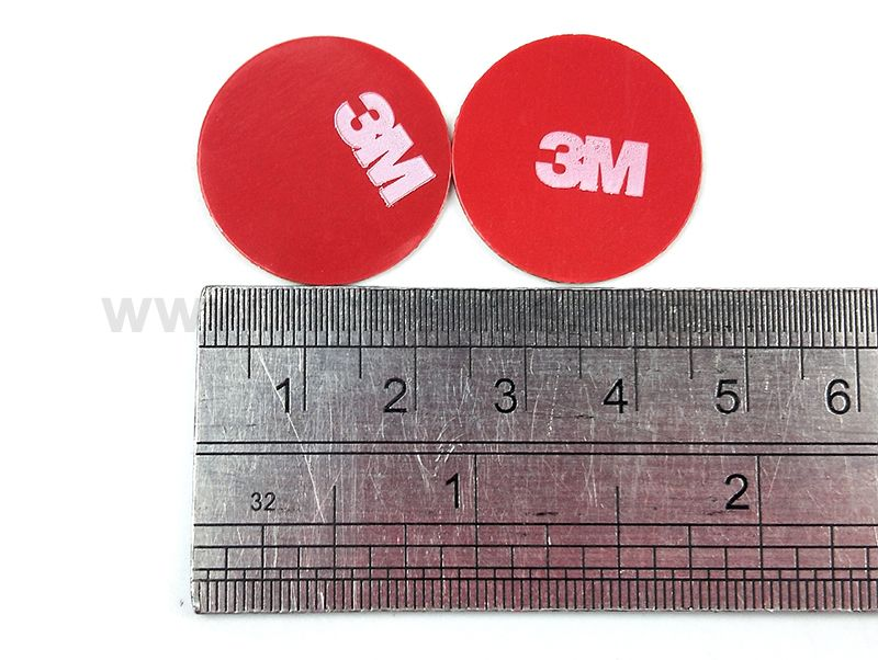 23mm circle die cut Gray 3M 4229P thickness 0.8mm Double Sided Acrylic Foam Tape.