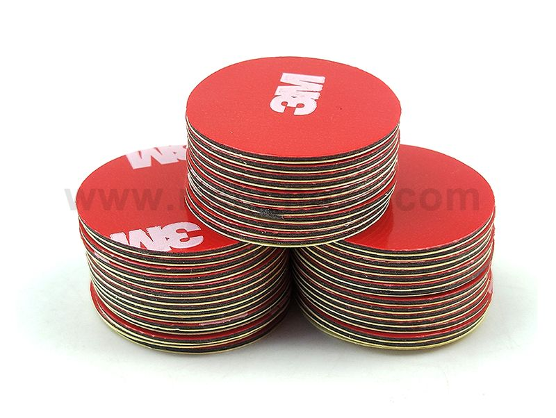 25mm circle die cut 3M 4229P Acrylic Foam Tape,Double Sided Adhesive for Car,thickness 0.8mm.