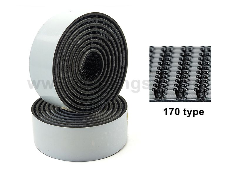 3M Black Dual Lock Single Sided Rubber Adhesive Reclosable Fastener SJ3542 for Indoor Use