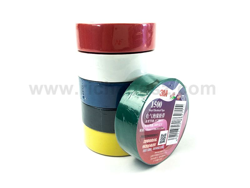 PVC Insulation Electrical Tape 3M 1500 For All Manner Of Indoor And Outdoor Applications
