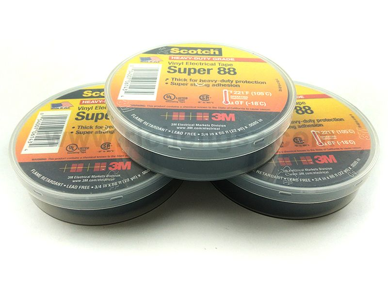 Scotch® Professional Grade Vinyl Electrical Tape Super 88