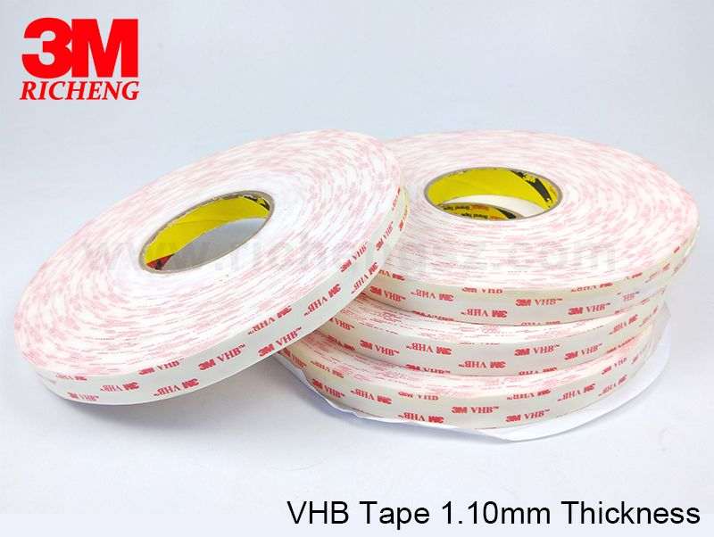 Die Cut 3M VHB 4952 Double Sided Acrylic wig tape low surface energy adhesive on a firm foam