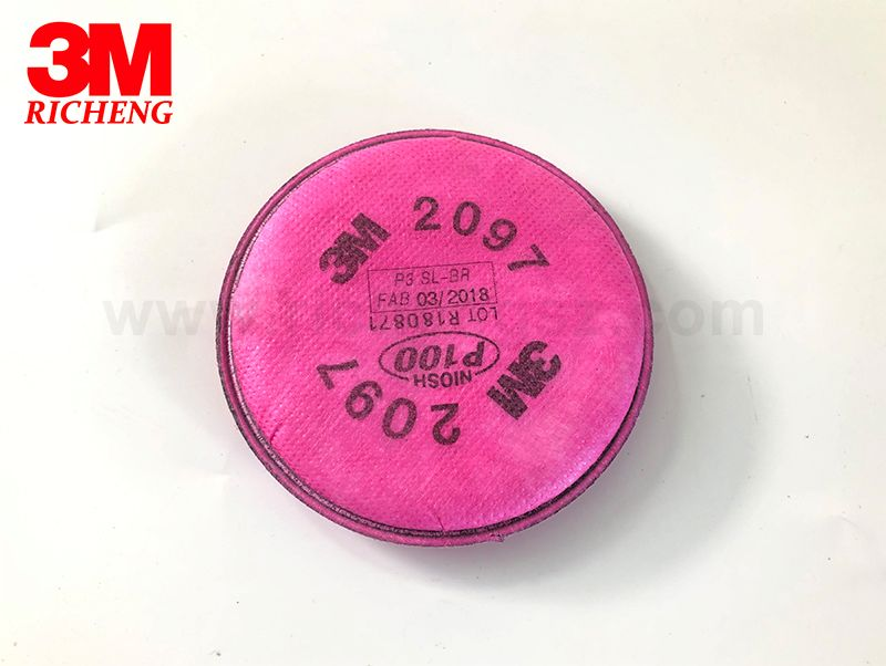 3M™ Particulate Filter 2097/07184(AAD), P100, with Nuisance Level Organic Vapor Relief 100 EA/Case