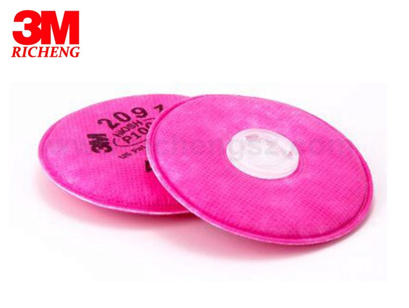 3M Particulate Filter 2091/07000(AAD), P100 100 ,Exceptional 99.97% filter efficiency