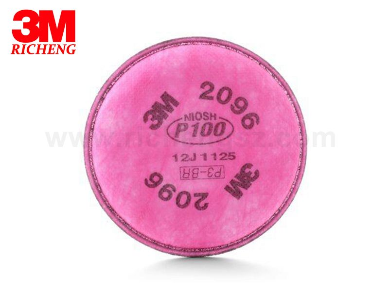 3M™ Particulate Filter 2096, P100, with Nuisance Level Acid Gas Relief 100 EA/Case