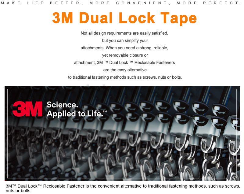 Die Cut 3M Dual Lock Reclosable Fastener Tape