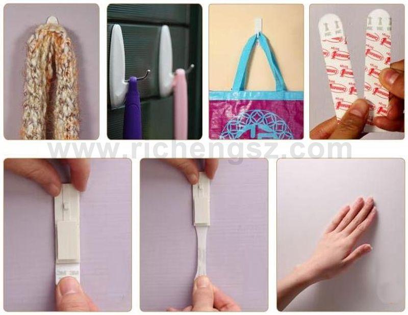 Large/Medium/Small size Command hook door adhesive hooks wall adhesive bag hook