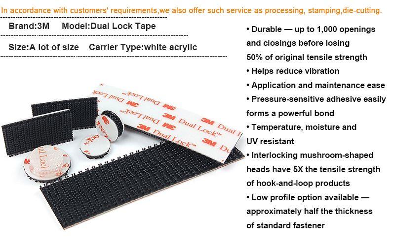 Dual Lock 3M Adhesive fastener Tape Die Cut circle