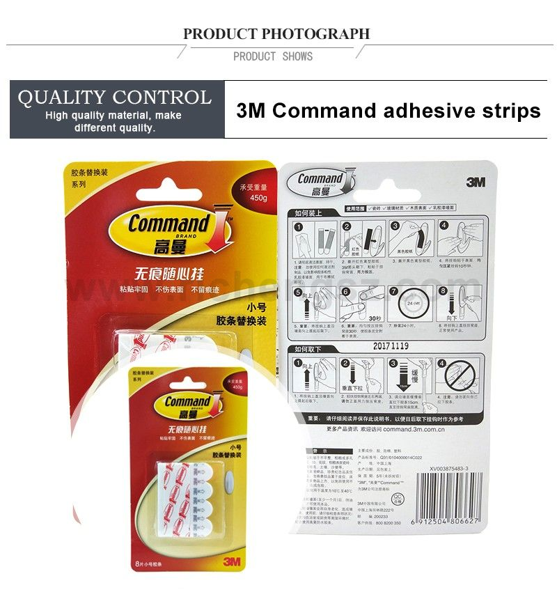 Small size Replacement Poster 3M Double-sided tape command Refill Strips l