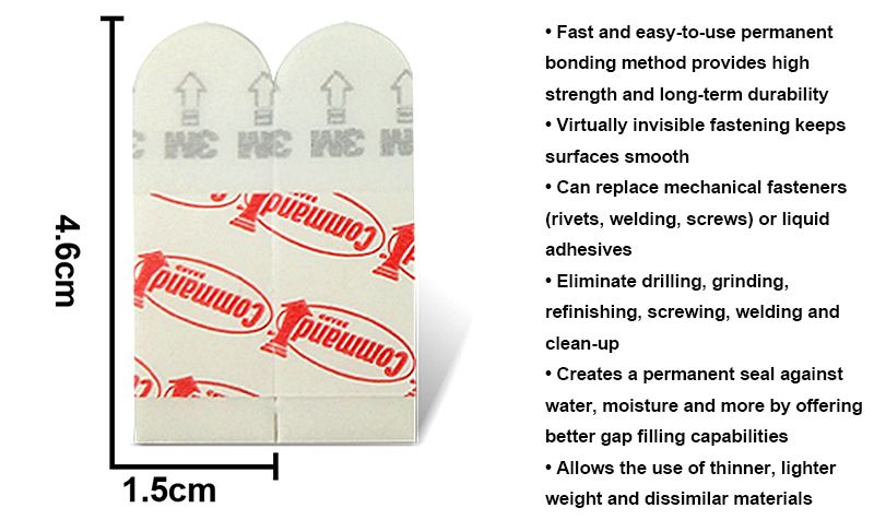 Small size  Assorted Mounting Refill Adhesive Poster 3M Double-sided tape command Refill Strips loose