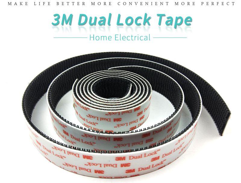 1IN*1IN Size black fastener dual lock 3m sj3550