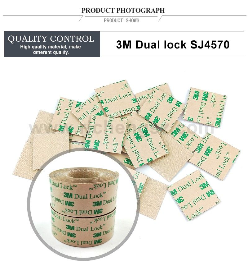 Custom Die Cut 3M Dual Lock Low Profile Reclosable Fastener SJ4570