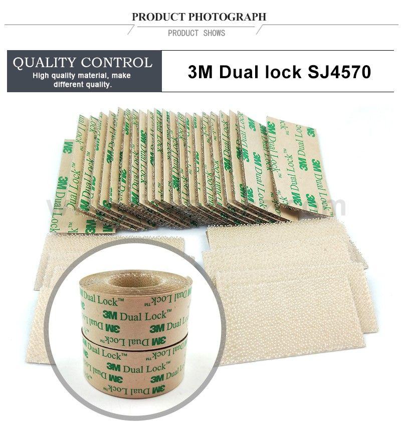 (25.4MM*50.8MM) 3M SJ4570 Clear Low Profile Fastener Dual Lock Tape