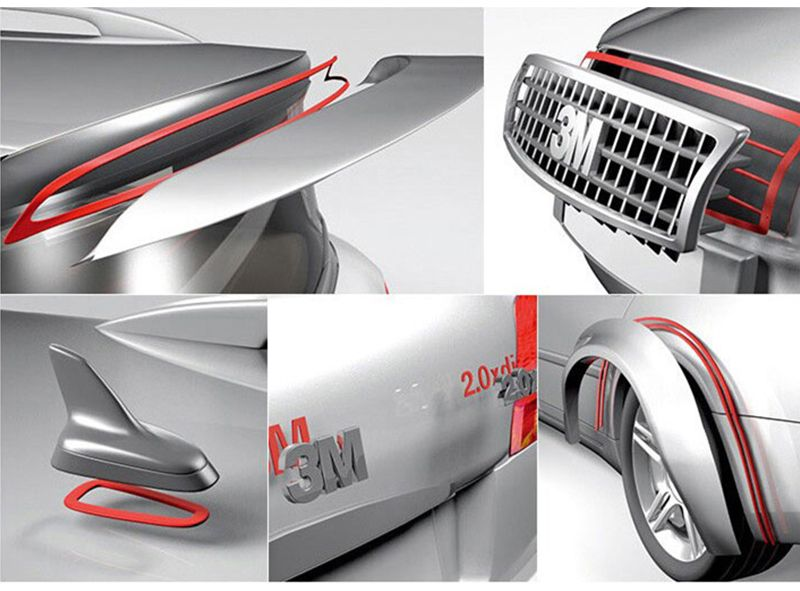 Size 25mm*50mm Gray 3M 4229P Automotive Double Sided Acrylic Foam Tape/high Sticky Auto Foam Tape/thickness 0.8mm,10Pcs/Lot,