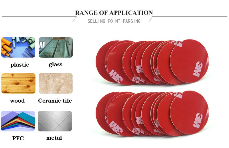 20Pcs 30mm size circle die cut Gray 3M 4229P thickness 0.8mm Car Tape Double Sided Sticker Acrylic Foam Adhesive Tape