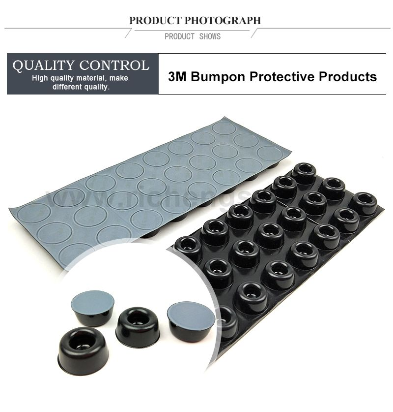 3m protective products SJ5009 /skid and Abrasion resistance dots/black color/W22.3mm*H10.1mm