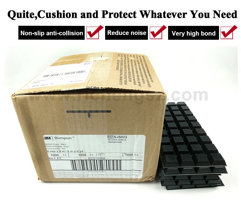 3m adhesive tape dots SJ5023 //black color/hemiphere/W20.6mm*H7.6mm