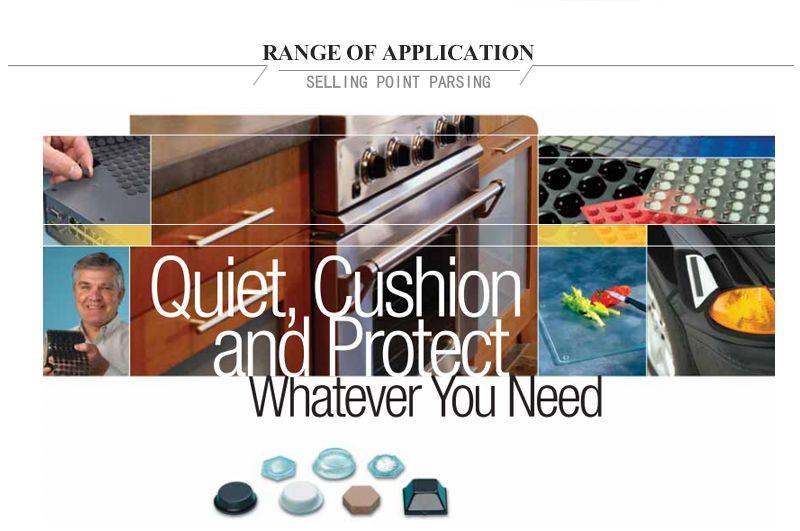 3M protective Bumpon SJ5302A 3m clear silicon rubber dots/top hat shape