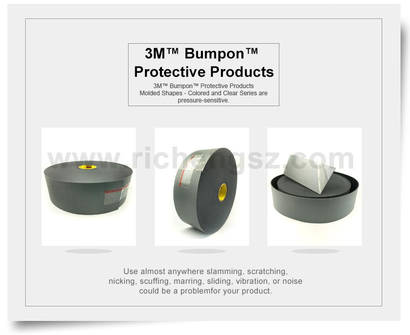All 3M™ Bumpon™ Protective Products feature a urethane composition
