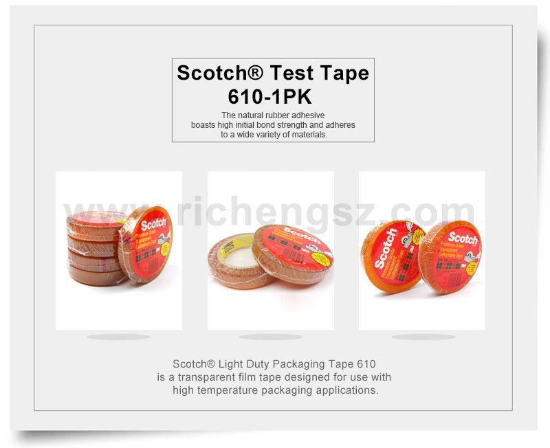 Scotch® Light Duty Packaging Tape 610 Heat Resistant