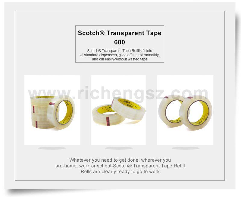 Scotch® Light Duty Packaging Tape 600 High Clarity