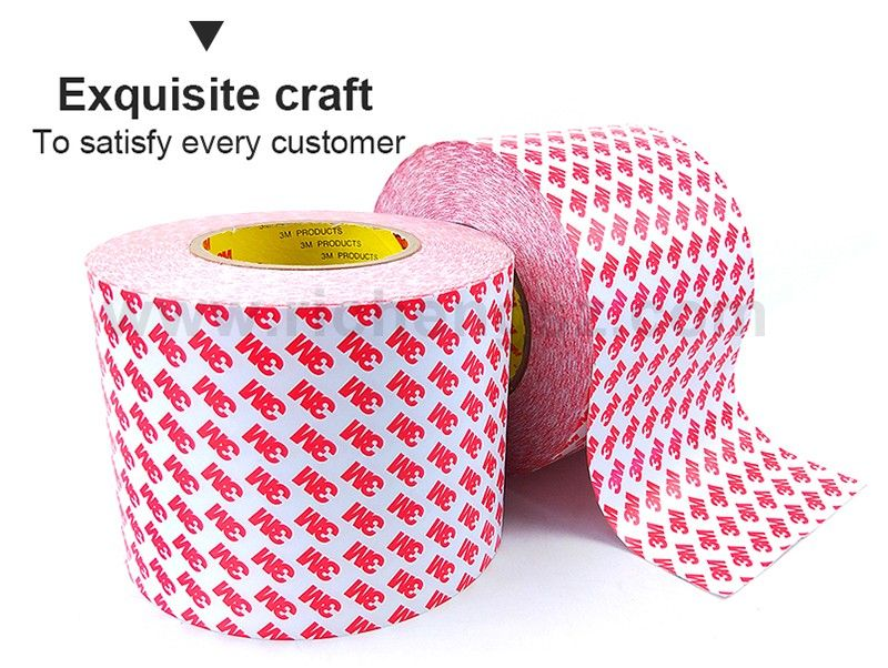 Original 3M 55236 100mm*50m Double Sided Adhesive Tissue Tape, Wide Use for Home, Electircs, Office White Board, Nameplate Label, Display