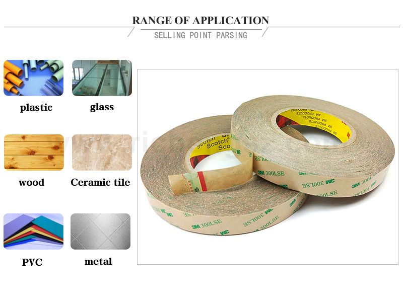 Very thin 3M 9472LE tesa double sided tapes foam tape