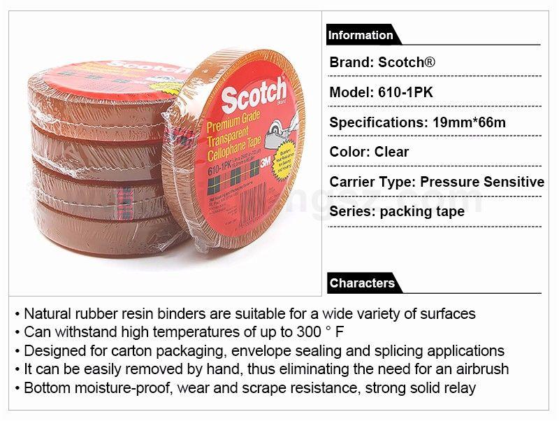 3M scotch tape 610-1PK  19MM*66M Heat Resistant