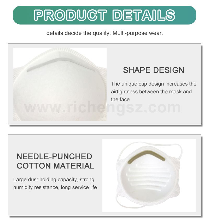China Mask Manufacturer KD8010  Kn95 Face Mask Disposable Earloop Cup type protective mask